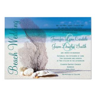 Convites do casamento do destino dos Seashells da
