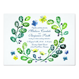 Convites do casamento do jardim da borboleta da