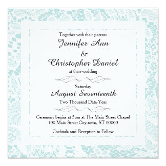 Convites do casamento do laço - o quadrado azul da