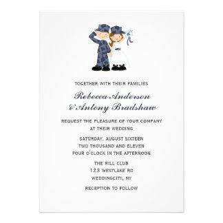 Convites do casamento do marinheiro e da noiva