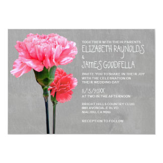 Convites do casamento do Mini-Cravo