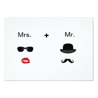 Convites do casamento do Moustache do bordo Convite 12.7 X 17.78cm