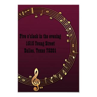 Convites do casamento do músico