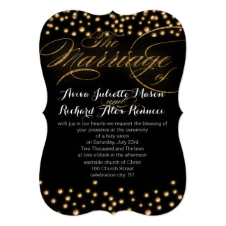 Convites do casamento do ouro