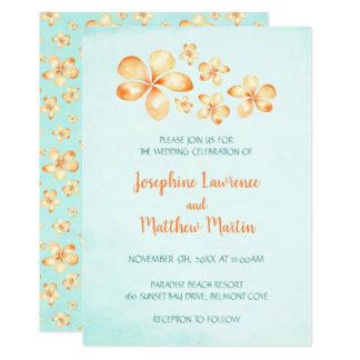Convites do casamento do Plumeria da ilha