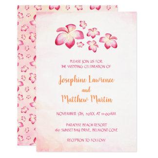 Convites do casamento do Plumeria do por do sol