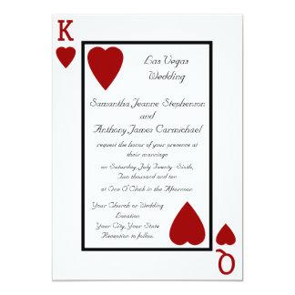 Convites do casamento do rei/rainha do cartão de