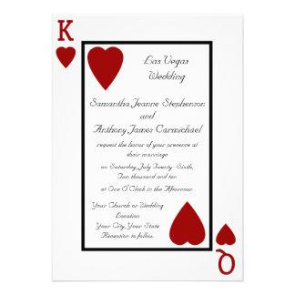 Convites do casamento do rei/rainha do cartão de j