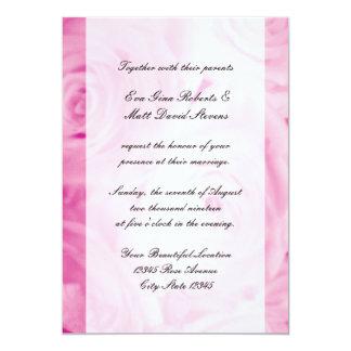 Convites do casamento do rosa do rosa