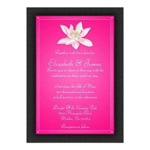 Convites do casamento do rosa quente