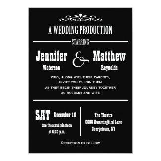 Convites do casamento do teatro do vintage do