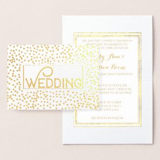 Convites do casamento dos confetes da tipografia