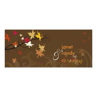Convites do casamento outono/folhas elétricas do