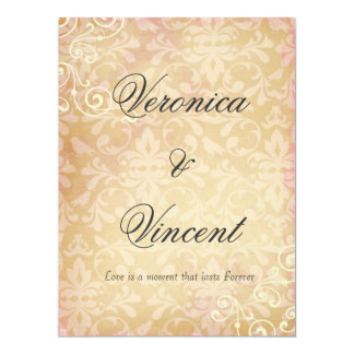 Convites do casamento vintage com citações do amor