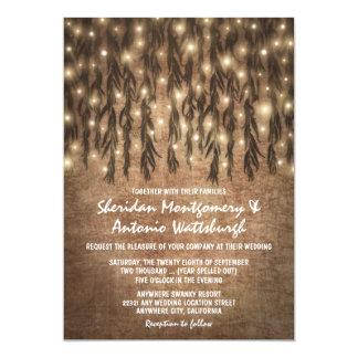 Convites do casamento vintage da árvore de