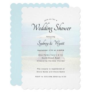 Convites do chá de casamento do paraíso das