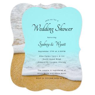Convites do chá de casamento do surf da areia n da
