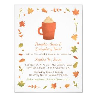 Convites do chá de fraldas da especiaria da