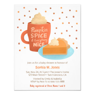 Convites do chá de fraldas da torta de Latte da