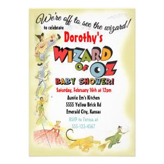 Convites do chá de fraldas de mágico de Oz do vint