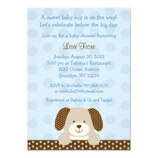 Convites do chá de fraldas do filhote de cachorro convite 11.30 x 15.87cm