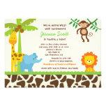 Convites do chá de fraldas do jardim zoológico da