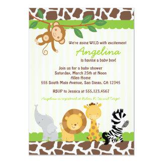 Convites do chá de fraldas do macaco da selva do