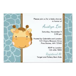Convites do chá de fraldas do menino do girafa