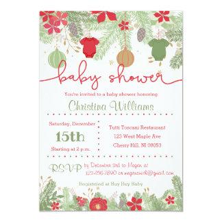 Convites do chá de fraldas do Natal