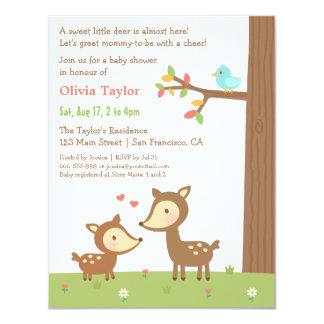 Convites do chá de fraldas dos cervos da floresta