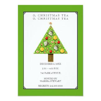 Convites do chá do Natal