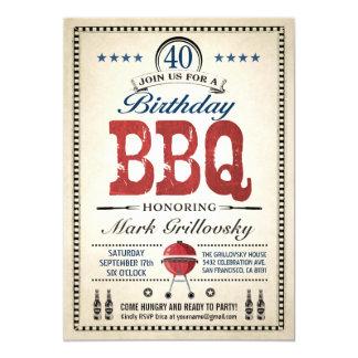 Convites do CHURRASCO do aniversário de 40 anos