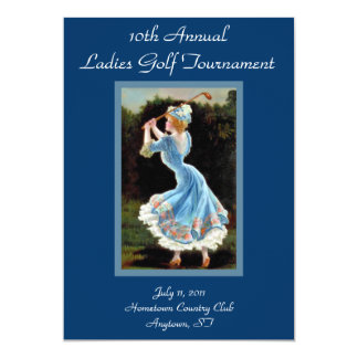 Convites do competiam do golfe das senhoras