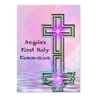 Convites do comunhão santamente do rosa bonito