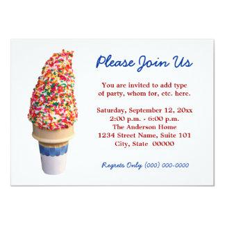 Convites do cone do sorvete