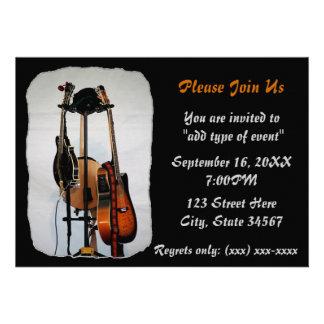 Convites do considerando dos instrumentos musicais