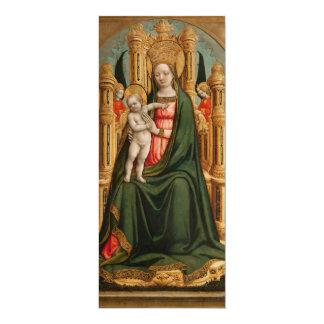 """""""Convites do costume da arte do Virgin e da Convite 10.16 X 23.49cm"""