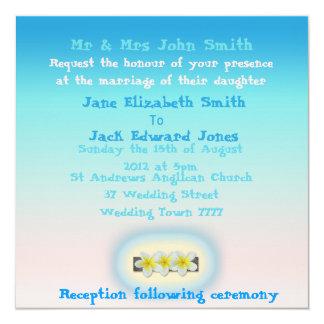 Convites do costume do casamento de praia do