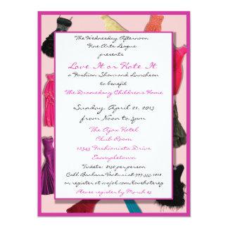 Convites do costume do desfile de moda e do almoço