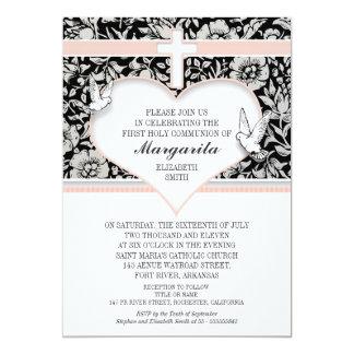 convites do costume do rosa do comunhão santamente