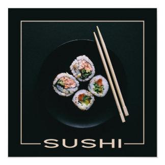 Convites do costume do sushi