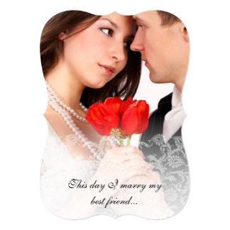 Convites do damasco do vintage do casamento da