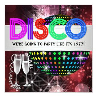 Convites do dance party do disco