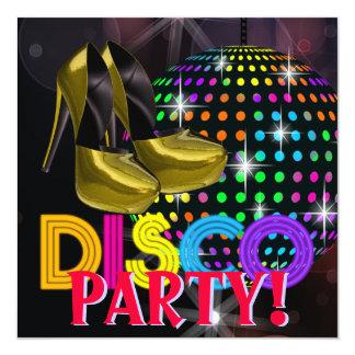 Convites do dance party do disco da bola do