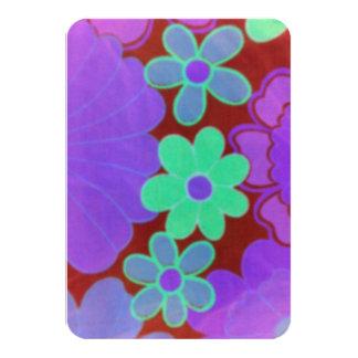 convites do design da criança de flor dos anos 60