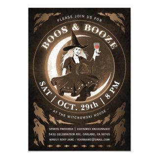 Convites do Dia das Bruxas das vaias & das bebidas