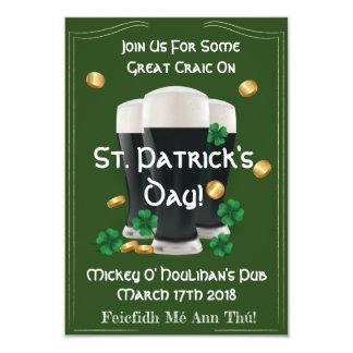 Convites do dia de St Patrick verdadeiro do