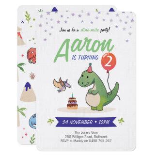 Convites do dinossauro, convites do aniversário