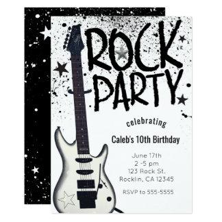 Convites do evento do aniversário da guitarra do