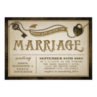 Convites do fechamento do coração e do casamento
